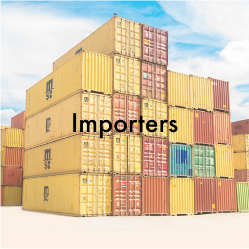 We supply importers world wide. We help them through the customs clearance process and the acquirement of Import Licences